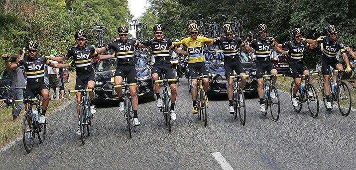 A Sky esteve fortíssima Fonte: Tour de France