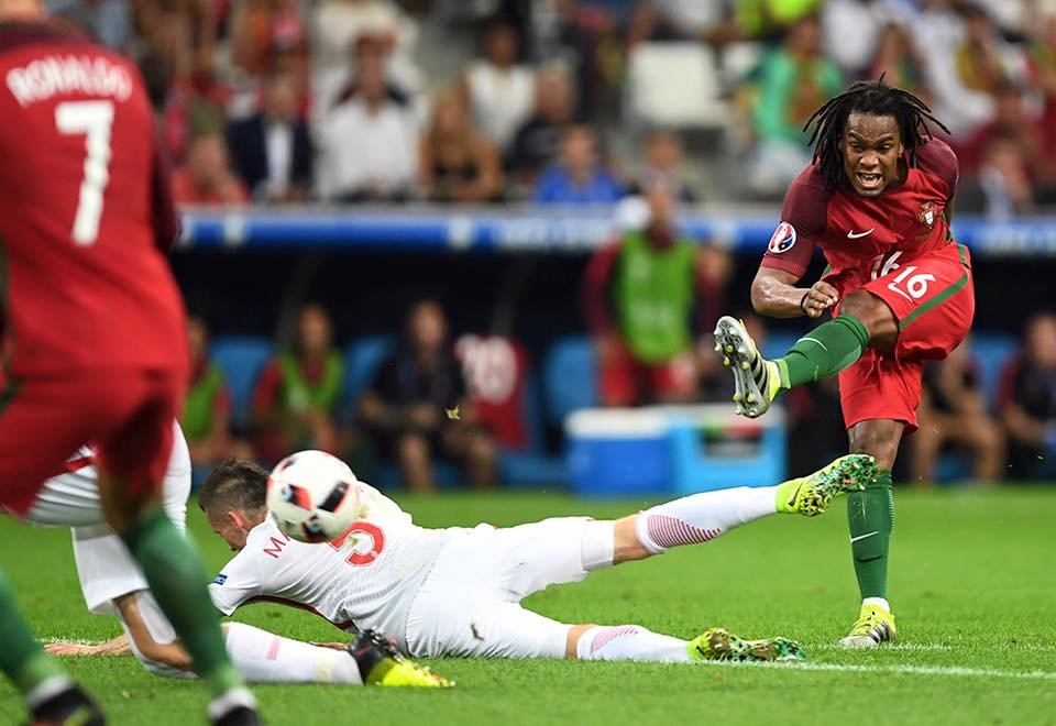O primeiro golo com a camisola principal Fonte: Facebook de Renato Sanches