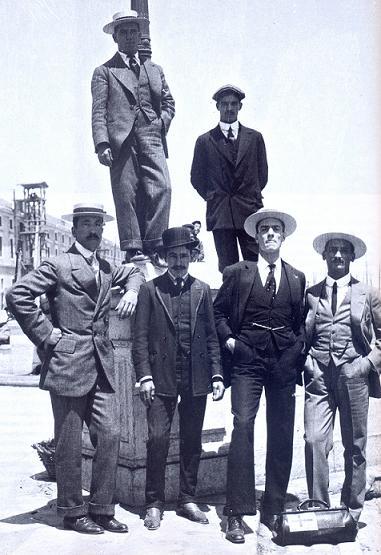Os seis atletas que estiveram em Estocolmo'1912 Fonte: COP
