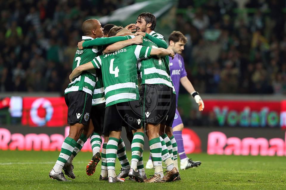 Festejos durante o jogo em Alvalade, frente ao Porto  Fonte: Sporting CP