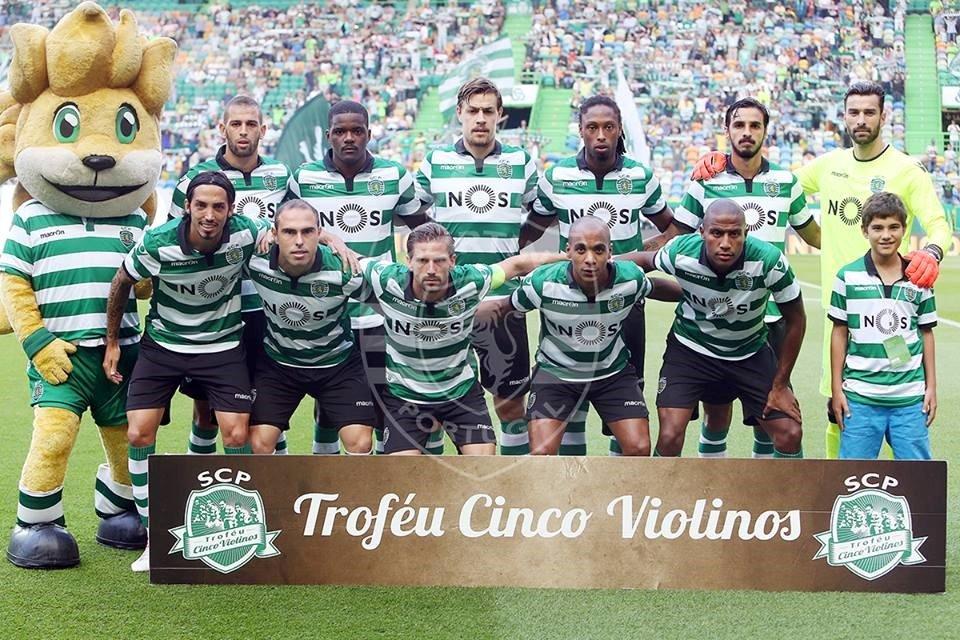 """O melhor jogo dos """"leões"""" na pré época foi frente ao Wolfsburgo (vitória por 2-1) Fonte: Sporting CP"""