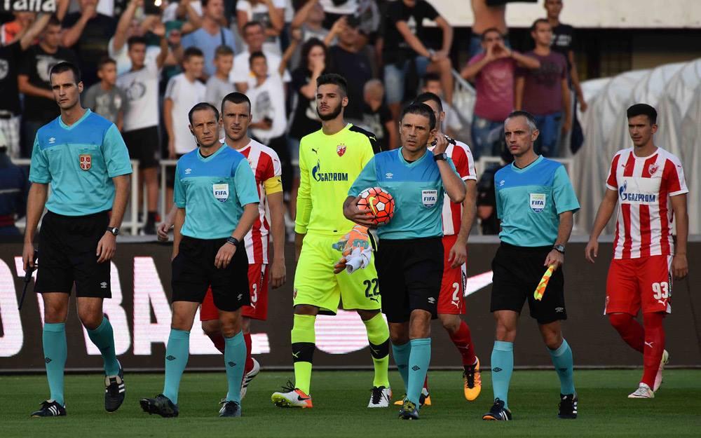 O árbitro internacional Milorad Masic acabou por realizar um bom trabalho na partida do passado Sábado Fonte: FK Crvena zvezda