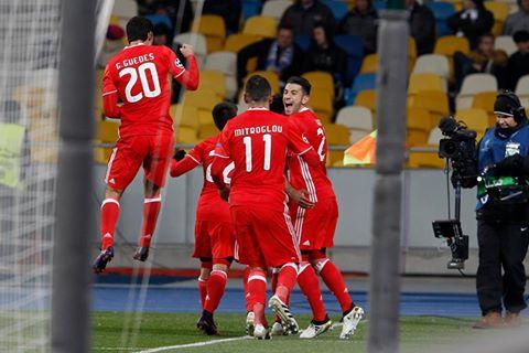 O Benfica traz da Ucrânia uma vitória importantíssima Fonte: SL Benfica