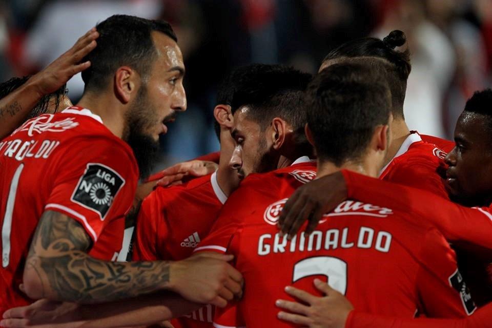 Depois de três jogos bastante bem conseguidos, a equipa encarnada dá mostras de confiança e de bom nível de jogo; Fonte: SL Benfica