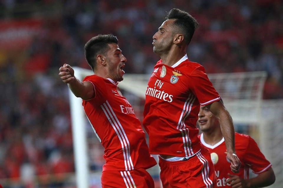 """O """"Pistolas"""" é um elemento importantíssimo na manobra ofensiva dos encarnados Fonte: SL Benfica"""