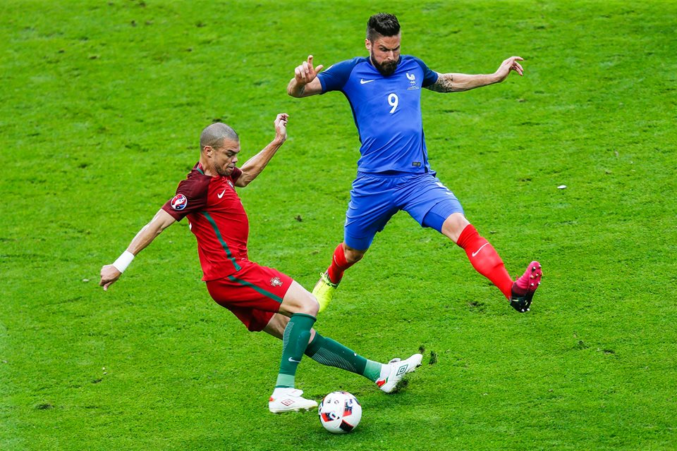 Pepe foi uma fortaleza inexpugnável no Euro'2016 Fonte: Seleções de Portugal