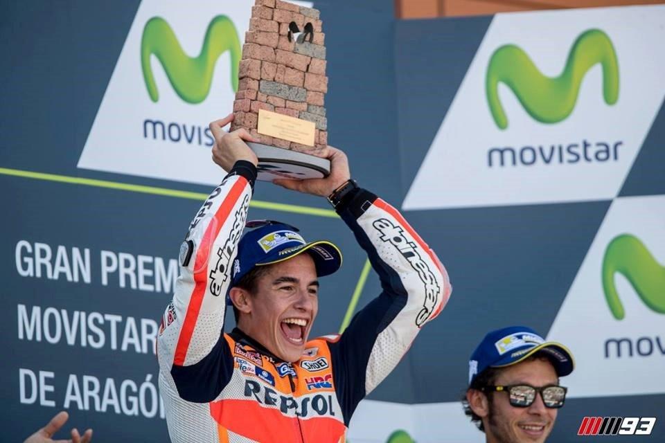 O título de campeão mundial é o destino provável de Marc Márquez Fonte:  Marc Márquez