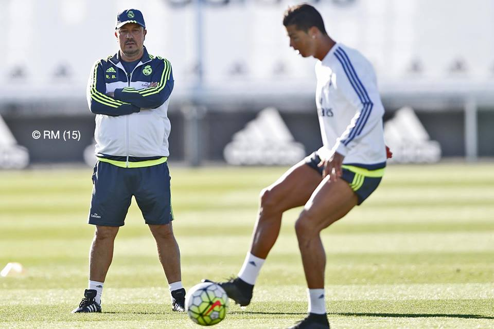 Benítez nunca conseguiu conquistar os seus jogadores Fonte: Real Madrid C.F.