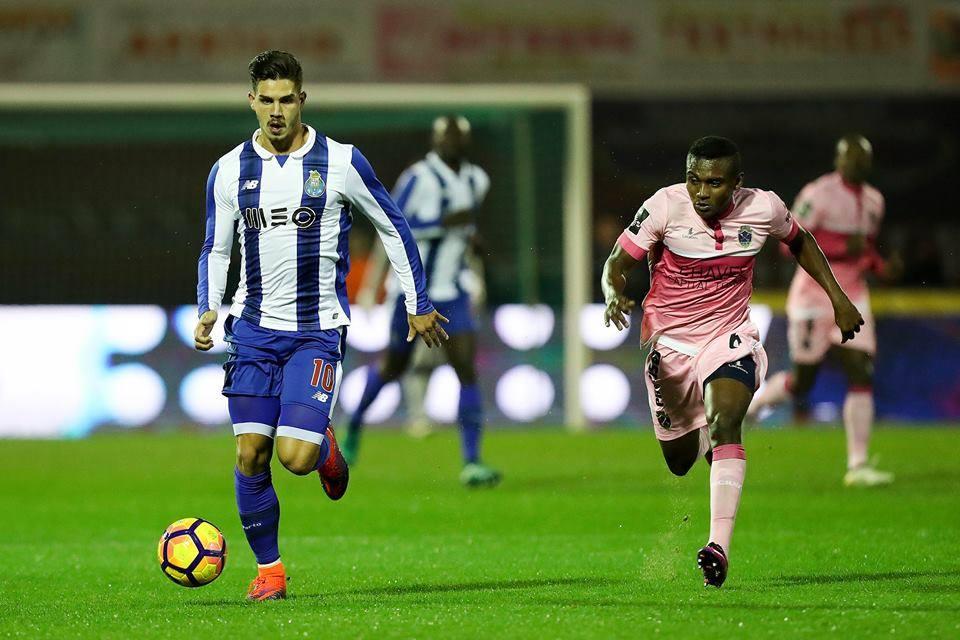 André Silva falhou o último penálti do FC Porto; Fonte: FC Porto