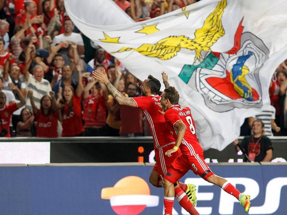 O Benfica segue em grande forma no campeonato nacional; Fonte: SL Benfica