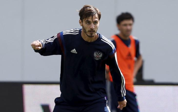 Erokhin num treino da selecção russa Fonte: Sovsport