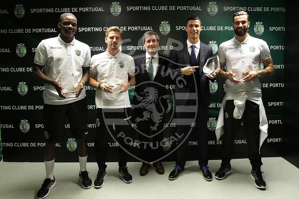 Os campeões europeus foram homenageados casa que os formou Fonte: Sporting CP