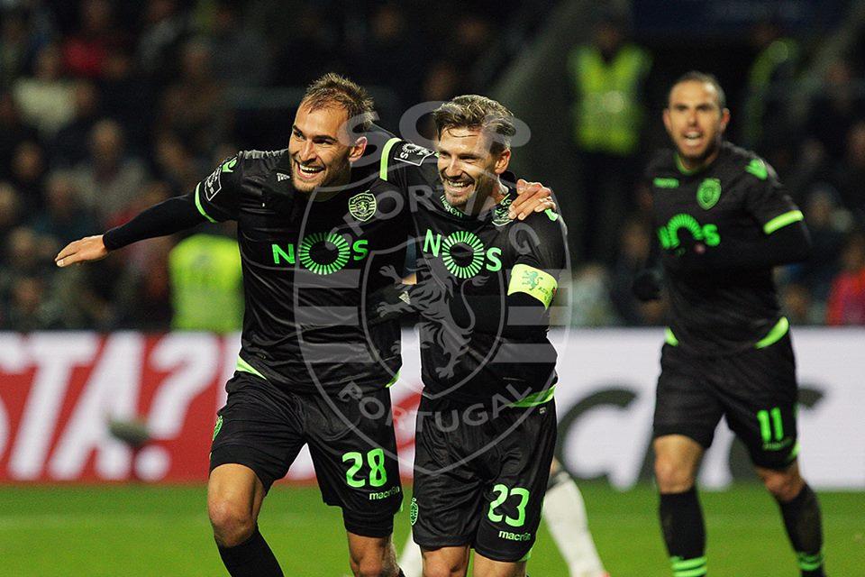 Bas Dost marcou um golo decisivo no Estádio do Bessa Fonte: Sporting CP