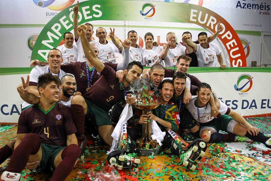 Portugal é o campeão europeu e detentor dos dois troféus europeus de clubes Fonte:hoquei em patins