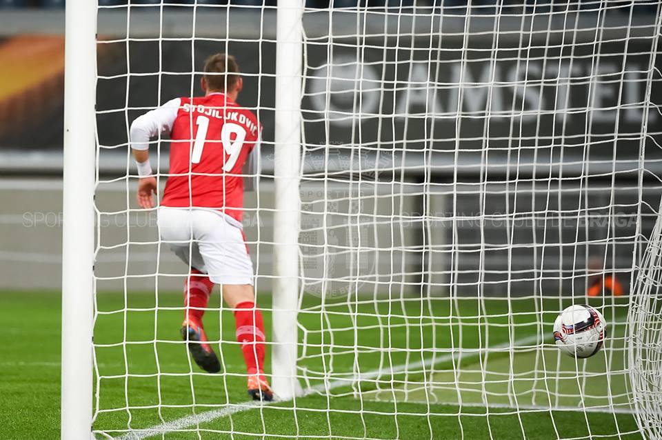Stojiljkovic foi um dos marcadores de serviço Fonte: SC Braga