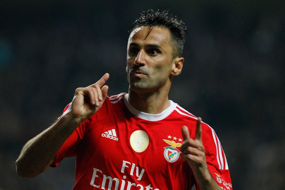 O avançado brasileiro regressou ontem depois de quatro meses de ausência; Fonte: SL Benfica