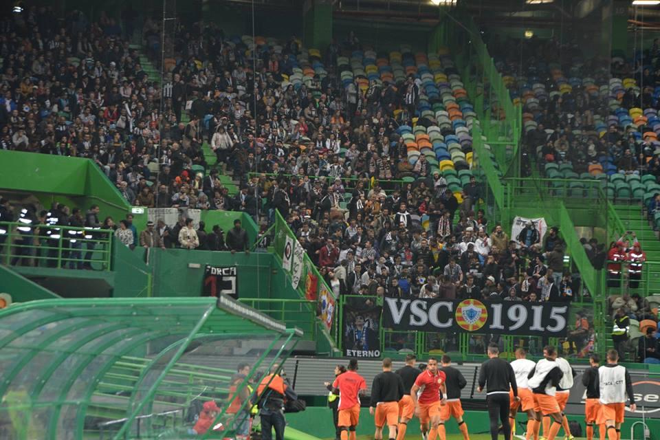 O Varzim teve uma forte falange de apoio em Alvalade. Fonte: Varzim Sport Club