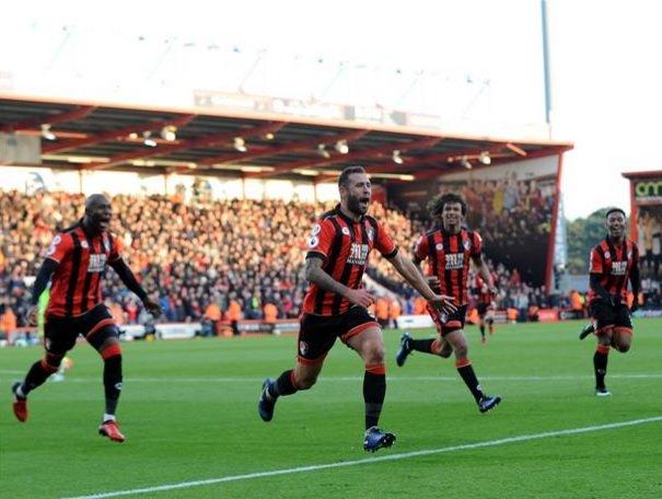 Bournemouth assinou reviravolta (1-3 para 4-3 em 15 minutos) memorável no passado fim-de-semana Fonte: AFC Bournemouth