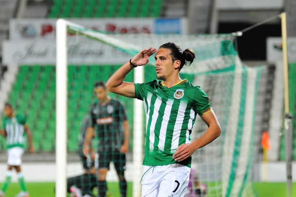 Guedes marcou o oitavo golo sofrido pelo Futebol Clube do Porto esta época (Fonte: Site Oficial do Rio Ave FC)