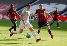 Lewandowski no duelo frente ao Eintracht Frankfurt