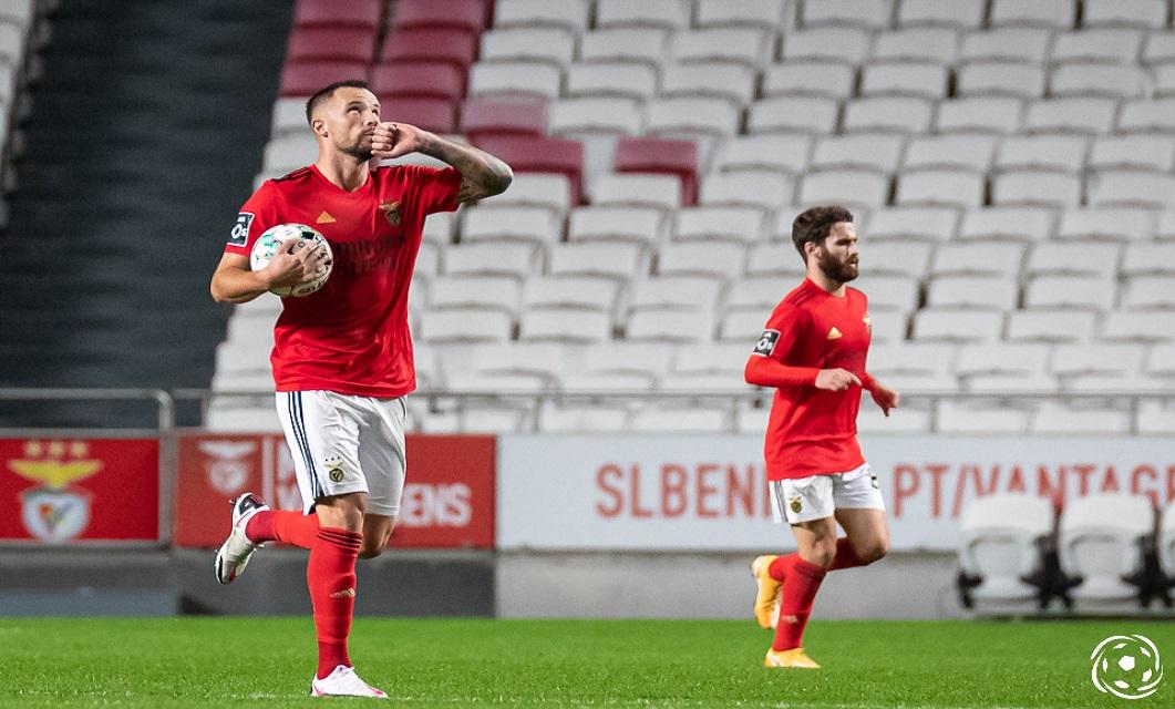 Haris Seferoic é o melhor marcador do SL Benfica esta temporada
