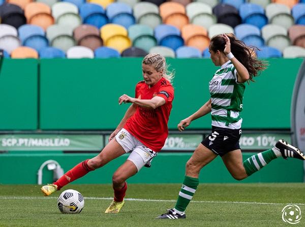 Cloé Lacasse esteve em destaque no SL Benfica