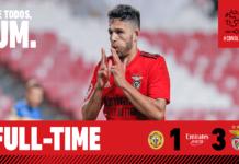 SL Benfica ganhou por 3-1 frente ao CD Nacional