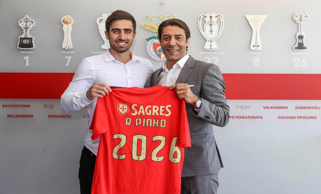 Rodrigo Pinho foi anunciado como reforço do SL Benfica até 2026