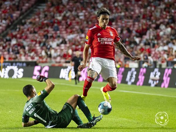 Darwin Nunez marcou dois golos na última partida do SL Benfica